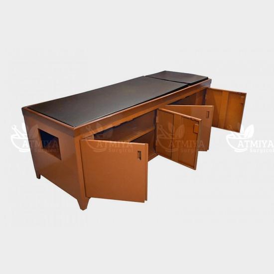 Panchkarma Table - Wooden - Atmiya Surgical